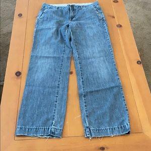 Gap Straight Wide Leg Denim Jeans